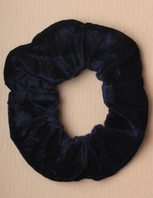 Navy blue velveteen hair scrunchie (Code 2015)